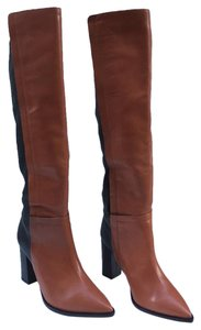 Loeffler Randall Leather Pointed Toe Brown Boots