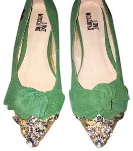 Love Moschino Green Flats