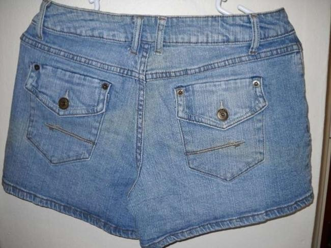 Gitano Stretchy Denim Mini/Short Shorts blue