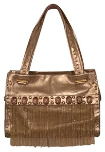 Sharif Satchel in Leather Gold