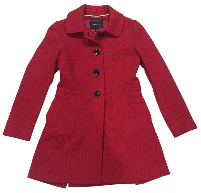 Item - Red Wool Blend Coat Size 0 (XS)