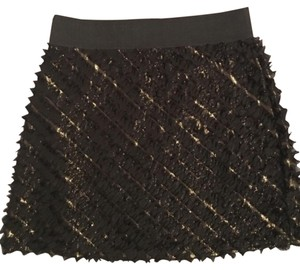 Guess Black & Gold Skirt Skirt