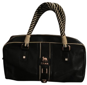 L.A.M.B. Satchel in Bmack With Black And White Handle.