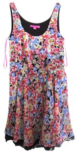 Betsey Johnson short dress flowers Lace Floral on Tradesy