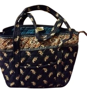 Vera Bradley Organizer Fabric Tote Shoulder Bag