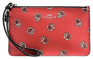 Coach F56026 889532660391 Nwt Orange Wristlet in SILVER / WATERMELON
