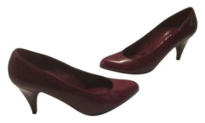 Charles Jourdan Made Burgundy all leather French Pumps