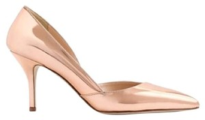J.Crew Metallic Rose Gold Pumps