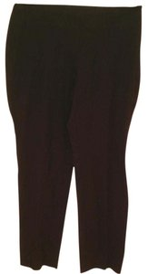 Talbots Flat Front Straight Pants Black