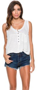 Free People Linen Top White