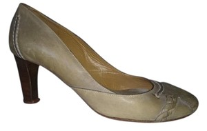 Chloé Vintage Chloe Wear To Work On Trend Green/Grey Pumps