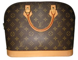 Louis Vuitton Satchel in Brown/Tan
