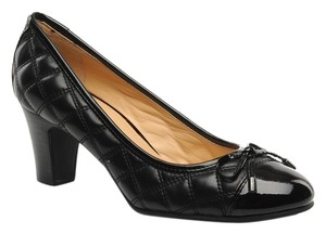 Geox Respira Quilted Black Pumps
