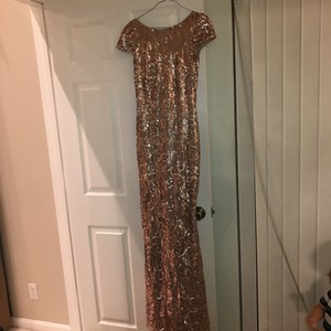 Badgley Mischka Rose Gold Dress