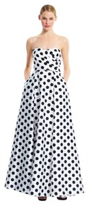 Adrianna Papell Polka Dot Gown Ball Gown Pockets Dress