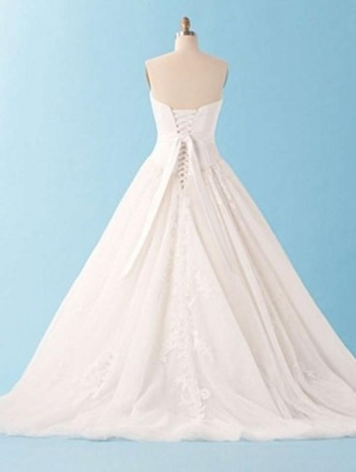 Alfred Angelo Ivory Satin 226 Formal Wedding Dress Size 8 (M) - Tradesy