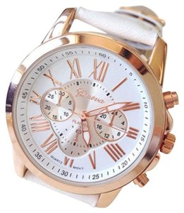 Wild Plum White Large Face Watch