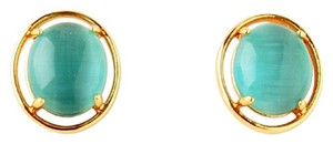 Kate Spade NEW kate spade Open Rim Studs in Turquoise Aqua 12k GP Gold Earrings