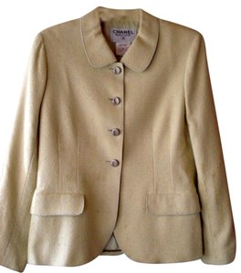 Chanel Designer Vintage yellow green Blazer