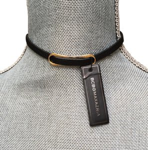 BCBGMAXAZRIA Black leather choker Necklace