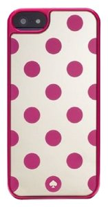 Kate Spade Kate Spade Snap On Mirrored Pink Polka Dot iPhone Case Cover 5/5S