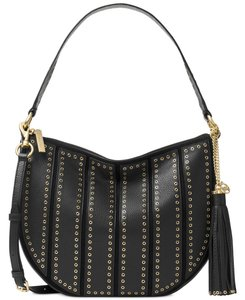Michael Kors Brooklyn Grommet Applique Shoulder Bag