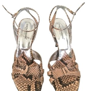Dolce&Gabbana Pink and brown snake skin Pumps