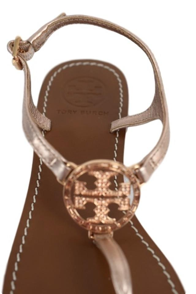 24f4dfd28bdc6 Tory Burch Rose Gold New Violet Thong - Metallic Mestico Sandals ...