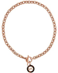 Michael Kors NWT Fulton Toggle Rose Gold-tone NECKLACE MKJ5357791