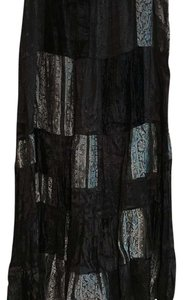 Chico's Skirt Black and silver