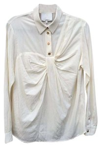 3.1 Phillip Lim Bow Long Sleeves Top Ivory
