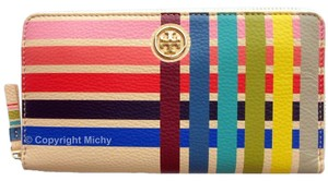 Tory Burch Tory Burch Multi-Color Multi-Gusset Zip Continental Wallet