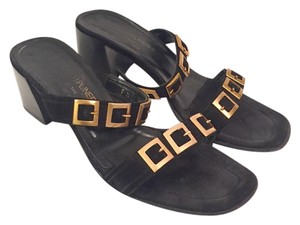 Donald J. Pliner Chunky Heel Black Sandals