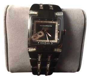 TechnoMarine Technomarine Women's Black Diamond Ceramic Watch