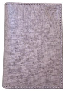 Aspinal of London NEW SOLDOUT Saffiano Double Fold Credit Card Case Cammeo Beige Pink
