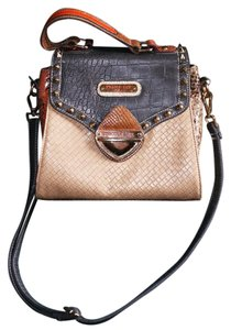 Nicole Lee Snakeskin Bold Bohemian Satchel in Multi