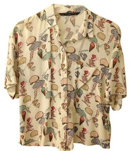 Zara Button Down Shirt Multi-color