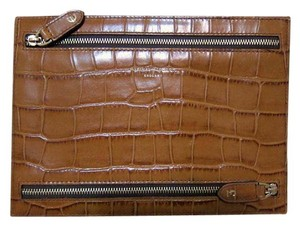 Aspinal of London NWT Classic Multi Currency Wallet Tan Embossed Leather UK Exclusive