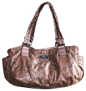 Dana Buchman Snakeskin Braided Edgy Shoulder Bag