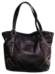 Dana Buchman Leather Pebbled Classic Bohemian Signature Shoulder Bag