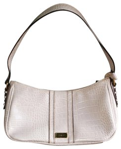 Liz & Co. Leather Shiny Pebbled Classic Satchel in Lilac