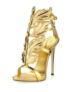 Giuseppe Zanotti Gold Shooting Flame Sandals