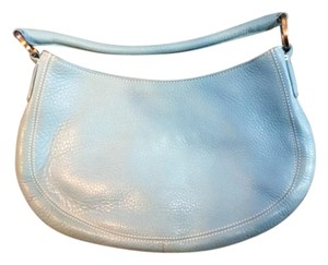 Ann Taylor Leather Blue Hobo Bag