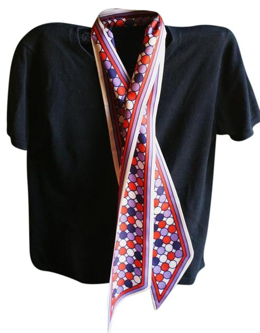 Item - Red Purple Blue White Vintage Scarf/Wrap