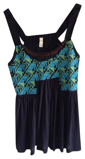 Preload https://item1.tradesy.com/images/tiny-tank-top-black-turquoise-green-2017150-0-0.jpg?width=400&height=650