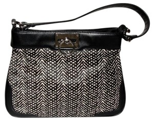 Ann Taylor Faux Fur Zebra And White Classic Tote in black