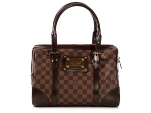 Louis Vuitton Damier Canvas Leather Trim Lv.k1017.11 Brown Checkered Satchel