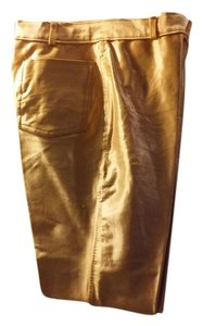 Casual Party Sparkle Straight Pants Gold