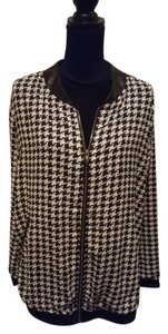Pleione Houndstooth Black and white Jacket