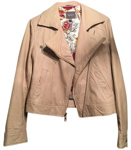 Kenna-T Sand Leather Jacket